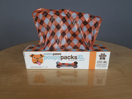 Review: Poopy Packs XL dog waste bags from Metro Paws