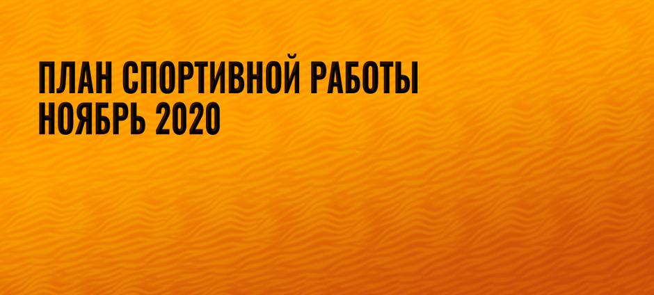 План спортивной работы на ноябрь 2020