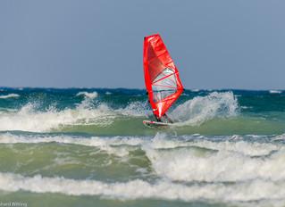 Windsurfing session Møn 2016-05-30