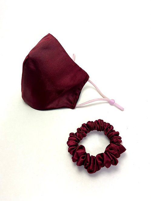 Red Mask and Scrunchie Set