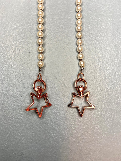 Rose Gold Star Mask Chain
