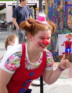 Clown in Aktion