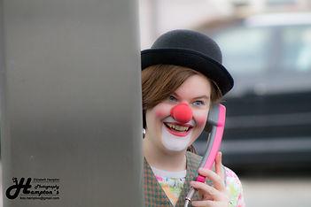 Clown am Telefon