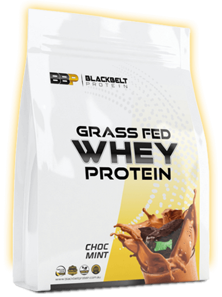 Grass-fed whey protein Choc Mint