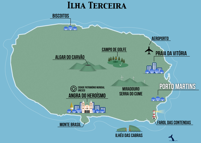 Terceira Touristic Map