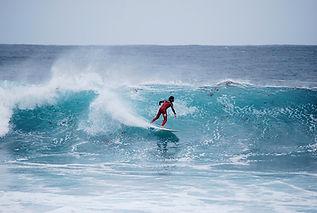 Surfing at Porto Martins