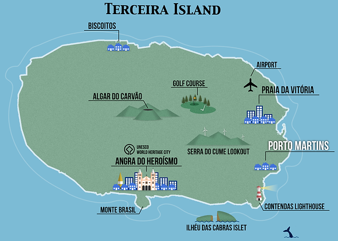 Terceira Touristic Map