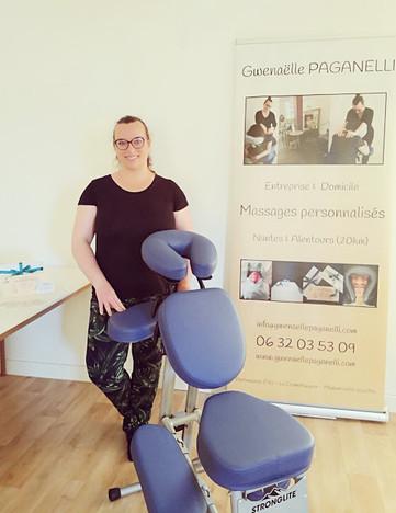 Le massage personnalisé assis