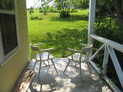 Front porch in the late afternoon