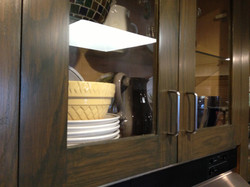 The kitchen cabinets