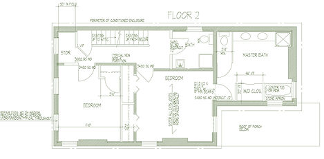 284 Liberty A-102 Second Floor Plan 0813