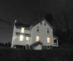 Farmhouse at night