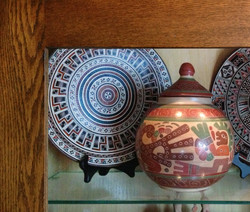 pottery collection from Peru