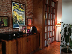 Audio area and vinyl library