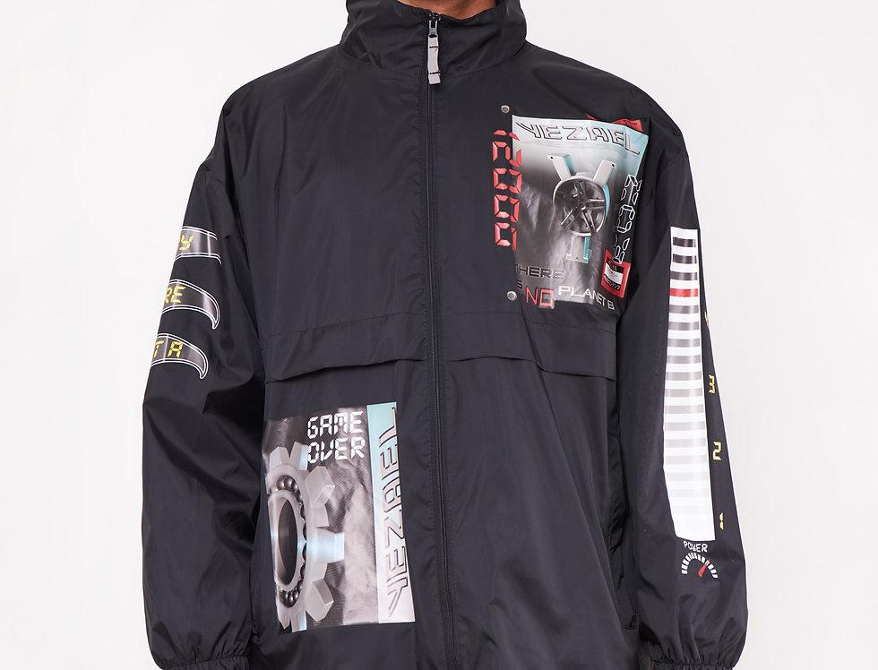 Printed waterproof jacket