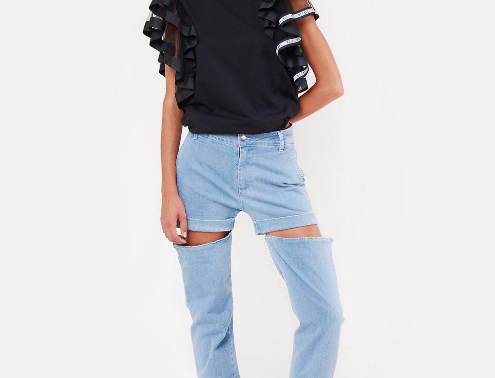 Ruffles maxi T-Shirt