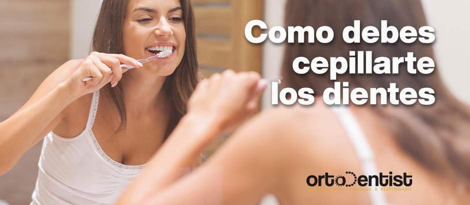 Como debes cepillarte los dientes