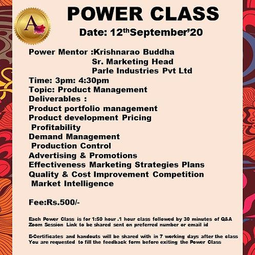 POWER CLASS Product Management