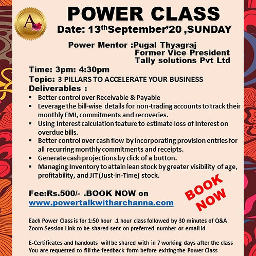 POWER CLASS 3 PILLARS TO ACCELERATE YOUR BUSINESS