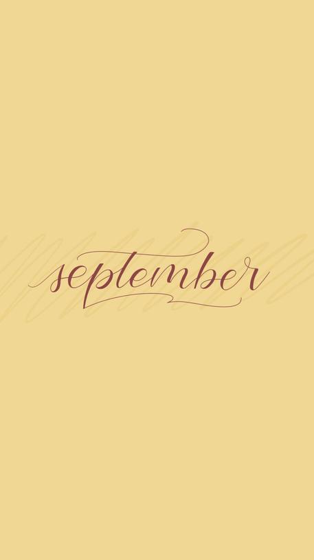 September Lockscreen