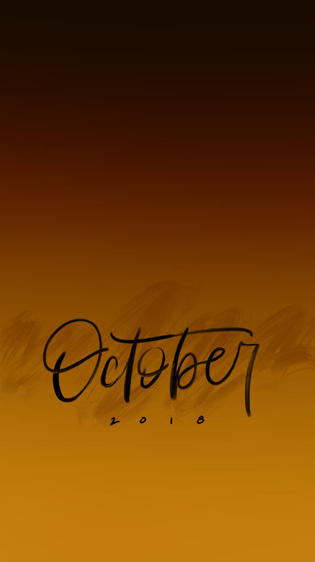 October Lockscreen
