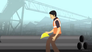 A fully animated video brings out the importance of practicing safety at the work place.