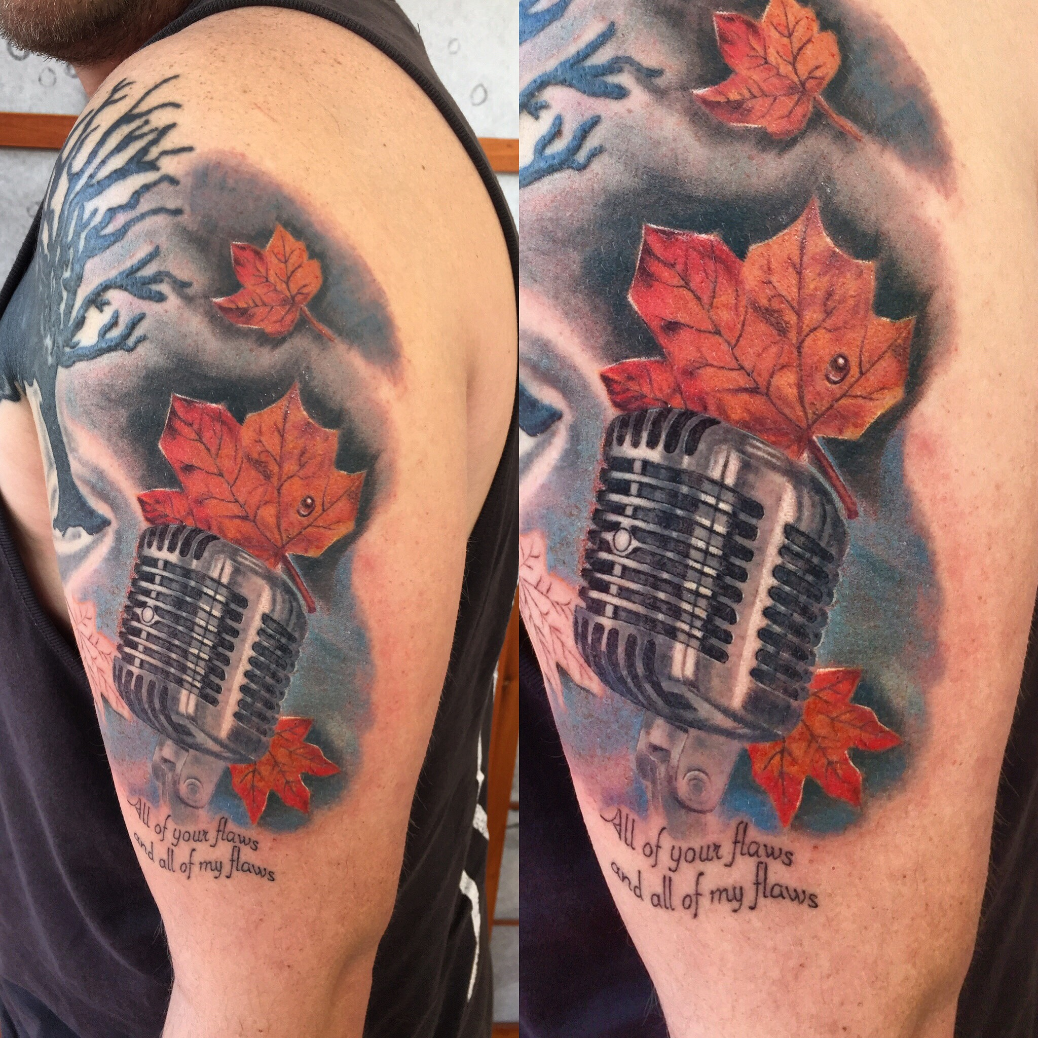 mic tattoo jason parry