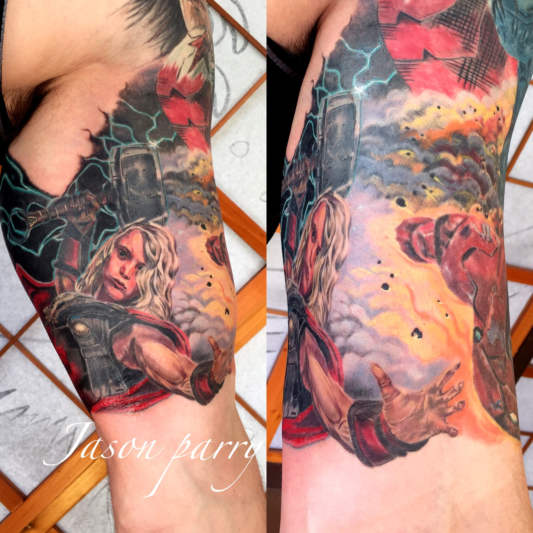 avengers 1 tattoo jason parry