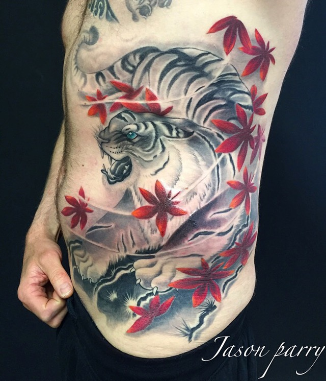 japanese tiger tattoo jason parry