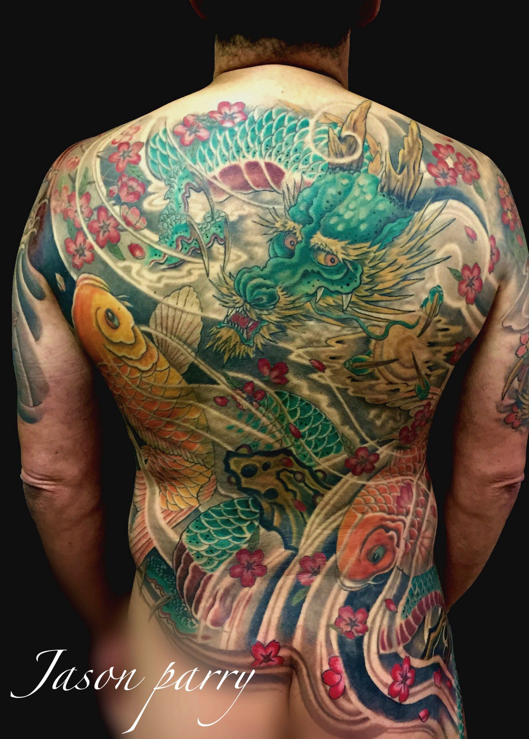 dragon koi back piece jason parry
