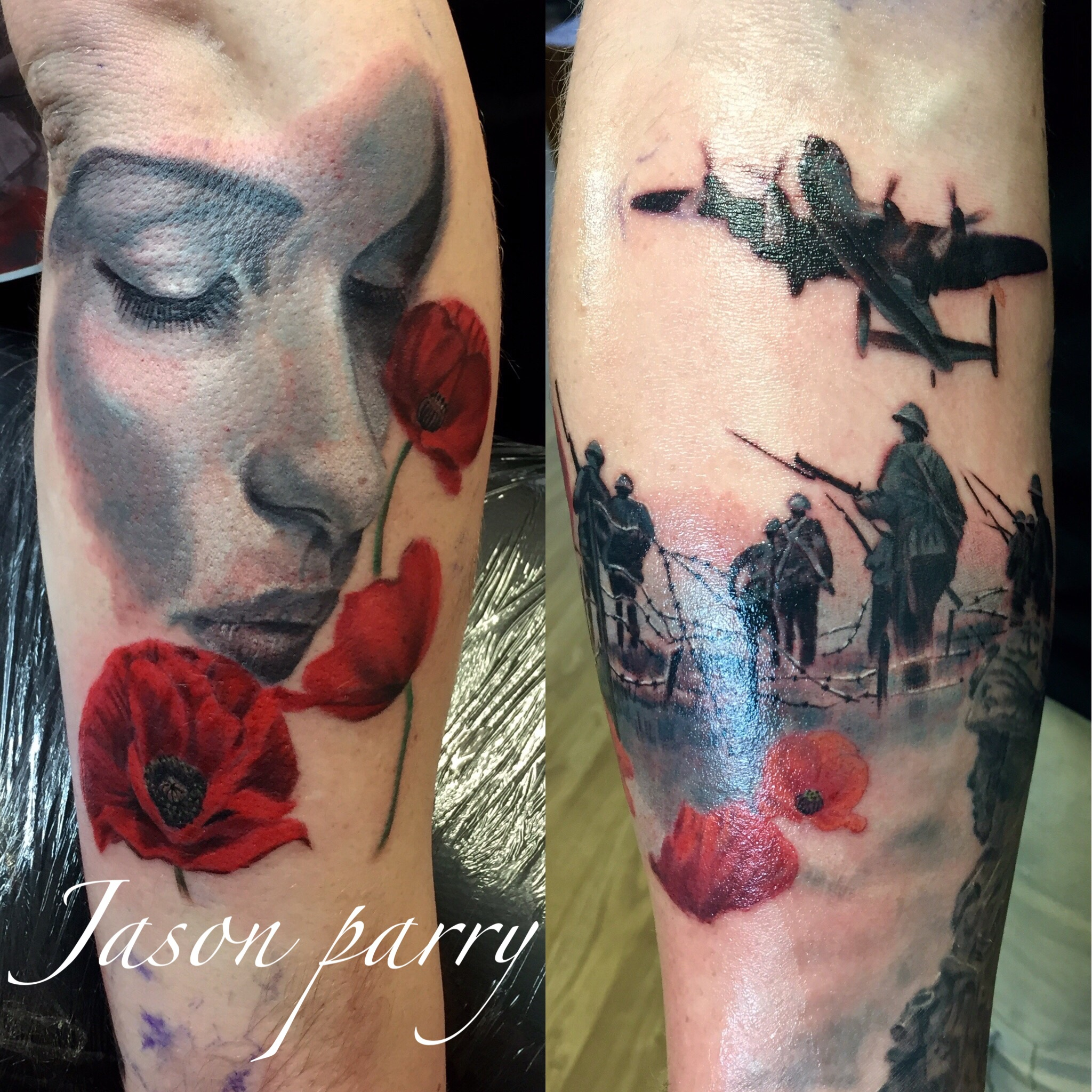 war theme tattoo jason parry