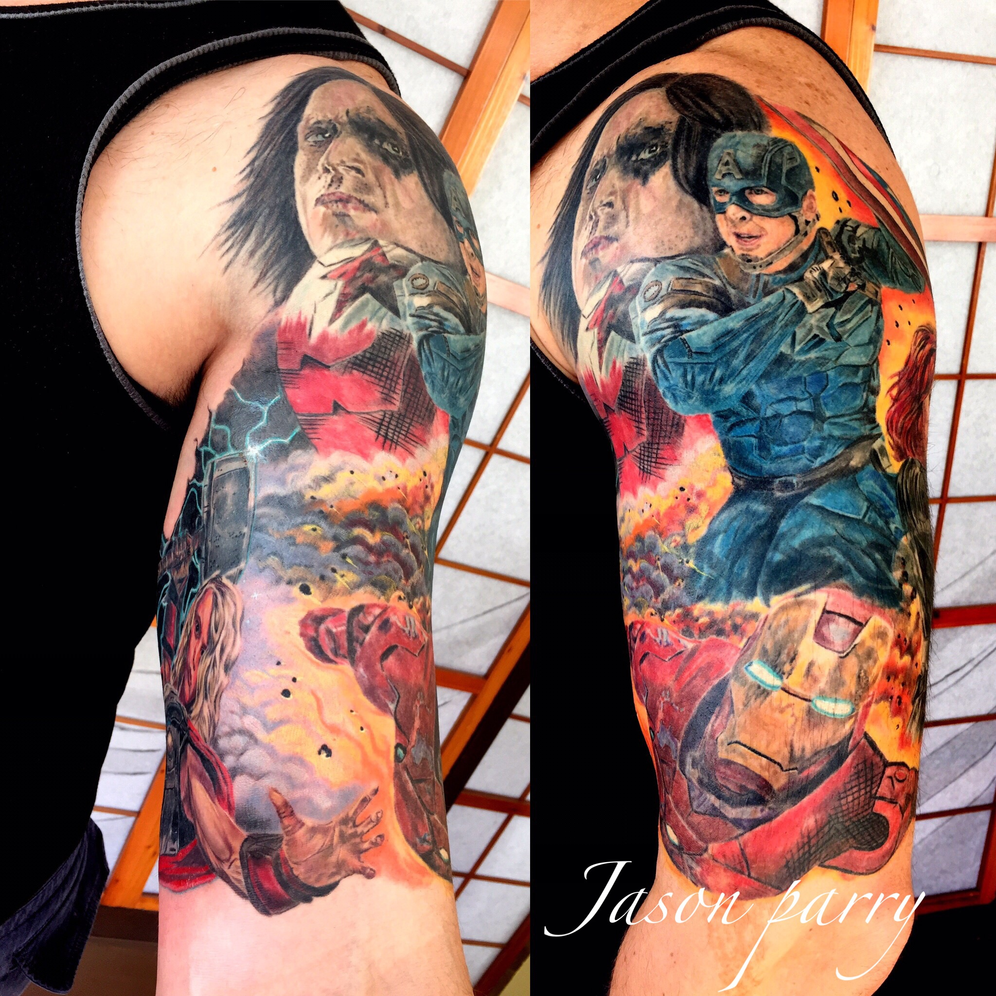 avengers tattoo jason parry