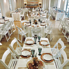 Seated rehearsal dinner for 100