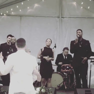 """First Dance""  Big Bling and The Funk Band from Atlanta rocked it all night under the Alabama stars in a beautiful clear tent from Soho Events & Rentals."