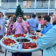 Crawfish Boil rehearsal dinner  Casual rehearsal dinner and the guys love it!