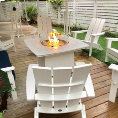 Fire table on the back deck