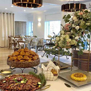 Buffet style wedding reception
