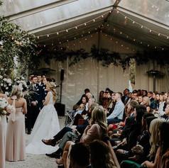 January wedding ceremony