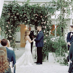 Clear tent ceremony