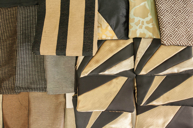 Process - Upcycling Curtain Samples & Re