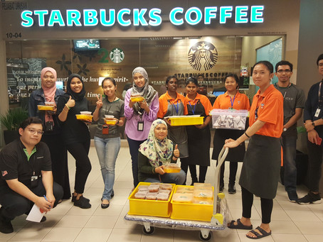The Y Cafe - Our First Order - Thank you Starbucks Malaysia!