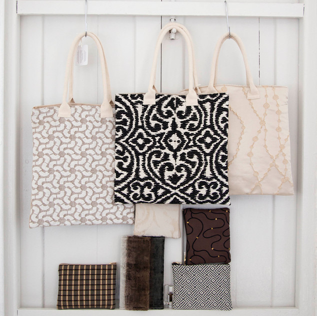 Tote, Clutch, Pouch Collection - Monochroma