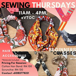 YWCA KL - Sewing Thursdays - Sewing Clas