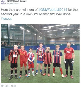 3rd Altrincham win GMW Scouts Football 2014