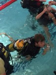 3rd Timperley Cubs learn to breathe as they take to the water….. Again