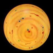 lampada globo giallo