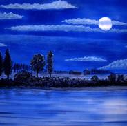 Luna piena sul Po