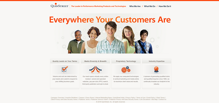 Old QuinStreet Homepage.png
