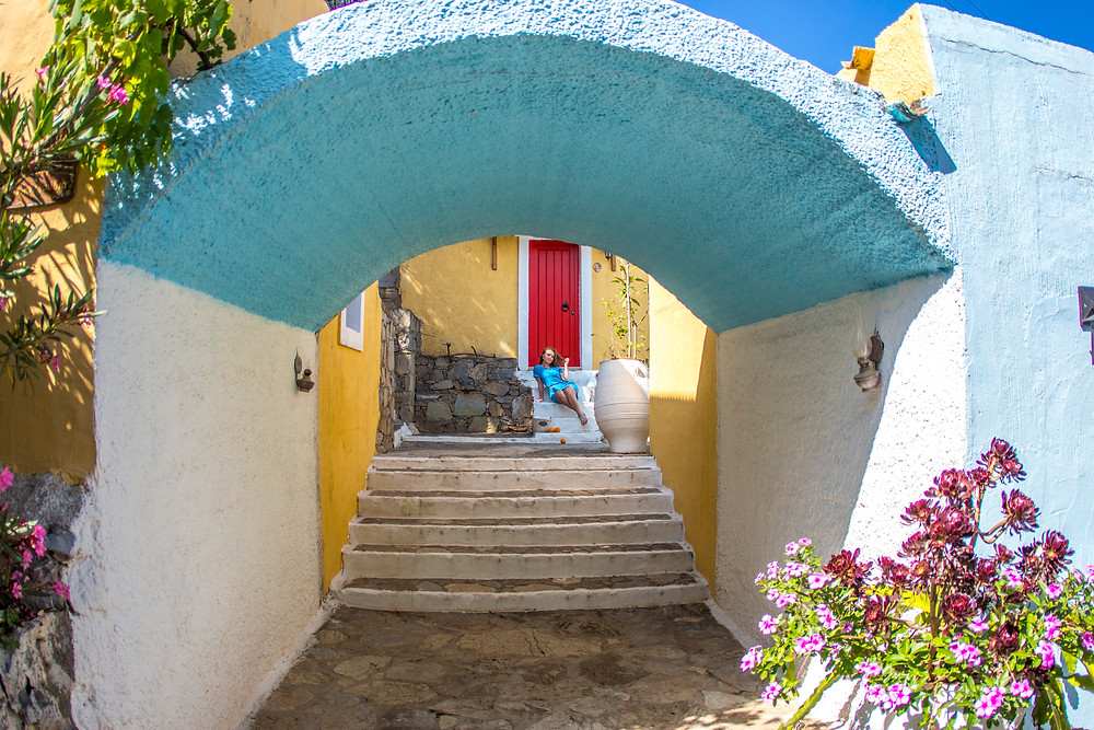 Деревня Аролифос на Крите