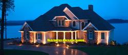 Подсветка фасадов домов